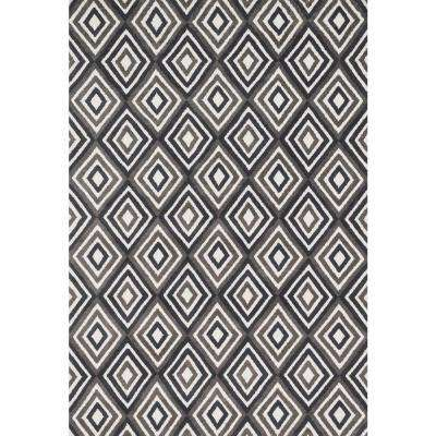 Cassidy Lifestyle Collection Grey/Charcoal 7 ft. 6 in. x 9 ft. 6 in. Area Rug