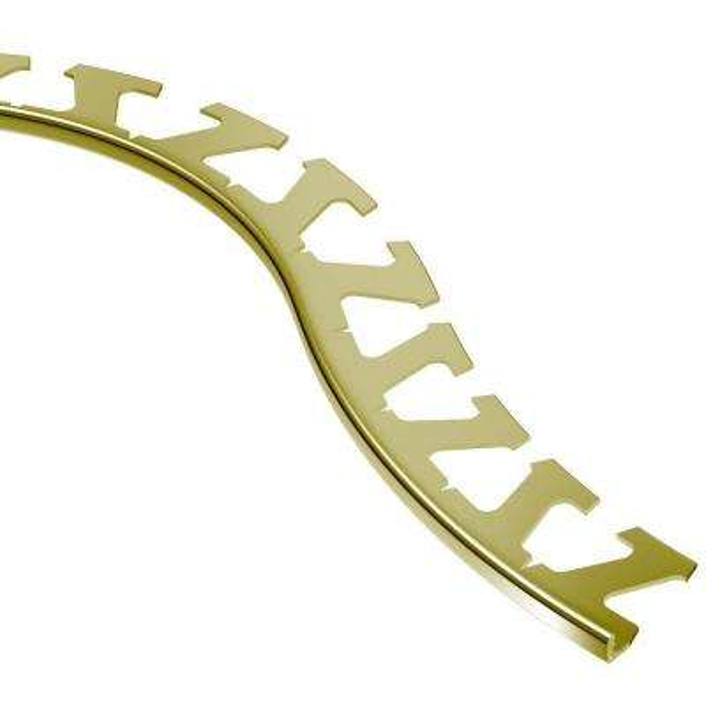 Jolly Satin Brass Anodized Aluminum 1/4 in. x 8 ft. 2-1/2 in. Metal Radius Tile Edging Trim