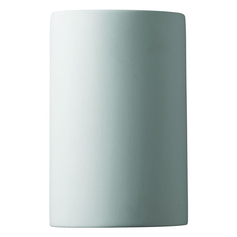 Leonidas 1-Light Paintable Ceramic Bisque Sconce