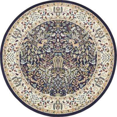 Round Multi Colored Area Rugs Rugs The Home Depot