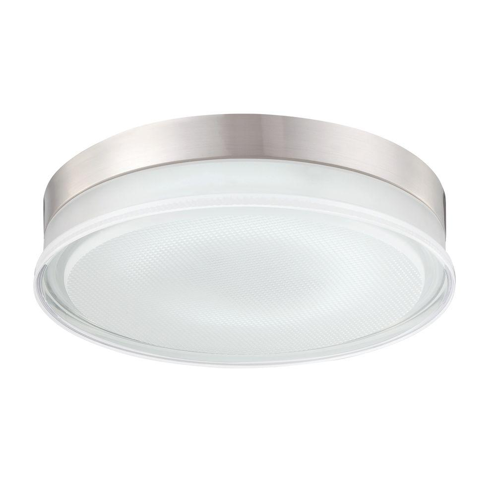 Eurofase Halo Collection 1-Light Satin Nickel Flushmount