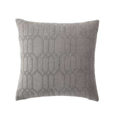 Morgan Home 18 in. Victoria Grey Geometric Throw Pillow Cover