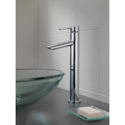 Compel Single Hole Single-Handle Vessel Bathroom Faucet in Chrome