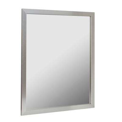 Reflections 30 in. W x 24 in. H Aluminum Framed Mirror in Brushed Nickel