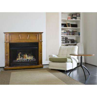 45 in. Vent-Free Dual Fuel Fireplace in Rich Heritage