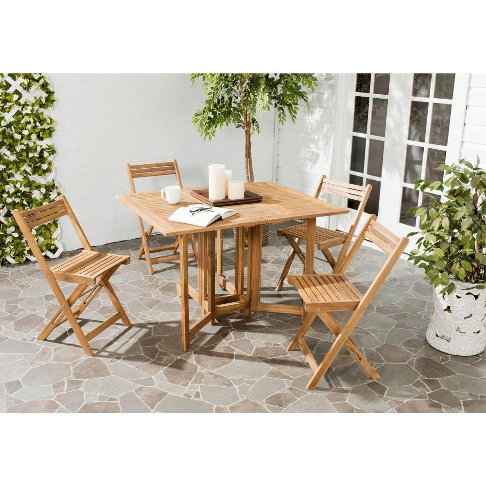 Safavieh Arvin Teak 5 Piece Patio Dining Set Pat7001a