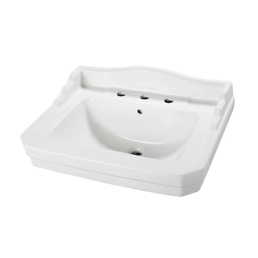 Nice Foremost Series 1930 20 1/4 In. Pedestal Sink Basin In White