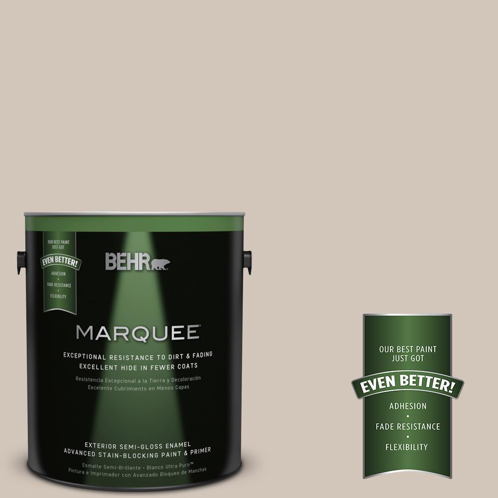 1 gal. #MQ2-50 Gravelstone Semi-Gloss Enamel One-Coat Hide Exterior Paint and