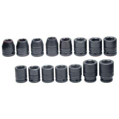3/4 in. Drive Metric 6-Point Impact Socket Set (15-Piece)