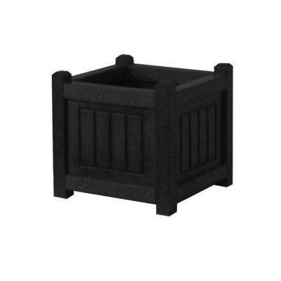 Nantucket 12 in. x 12 in. Black Recycled Plastic Commercial Grade Planter Box