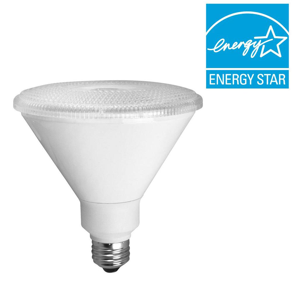 TCP 90W Equivalent Bright White (3000K) PAR38 Dimmable LED Flood Light Bulb