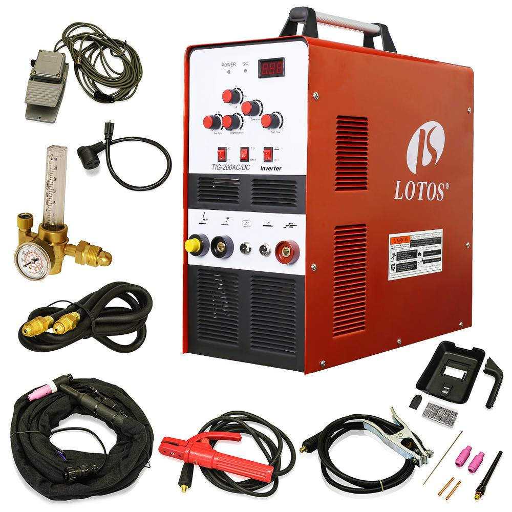 200 Amp TIG/Stick Square Wave Inverter Welder with foot pedal for