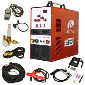 Lotos 200 Amp TIG/Stick Square Wave Inverter Welder with foot pedal for Aluminum, Dual Voltage 110/220V by Lotos