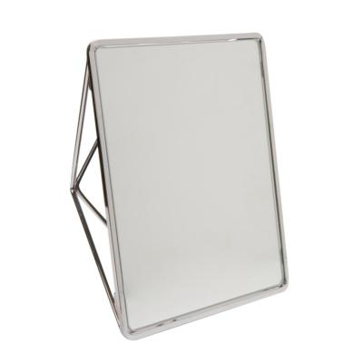 Geometric Vanity Mirror in Chrome