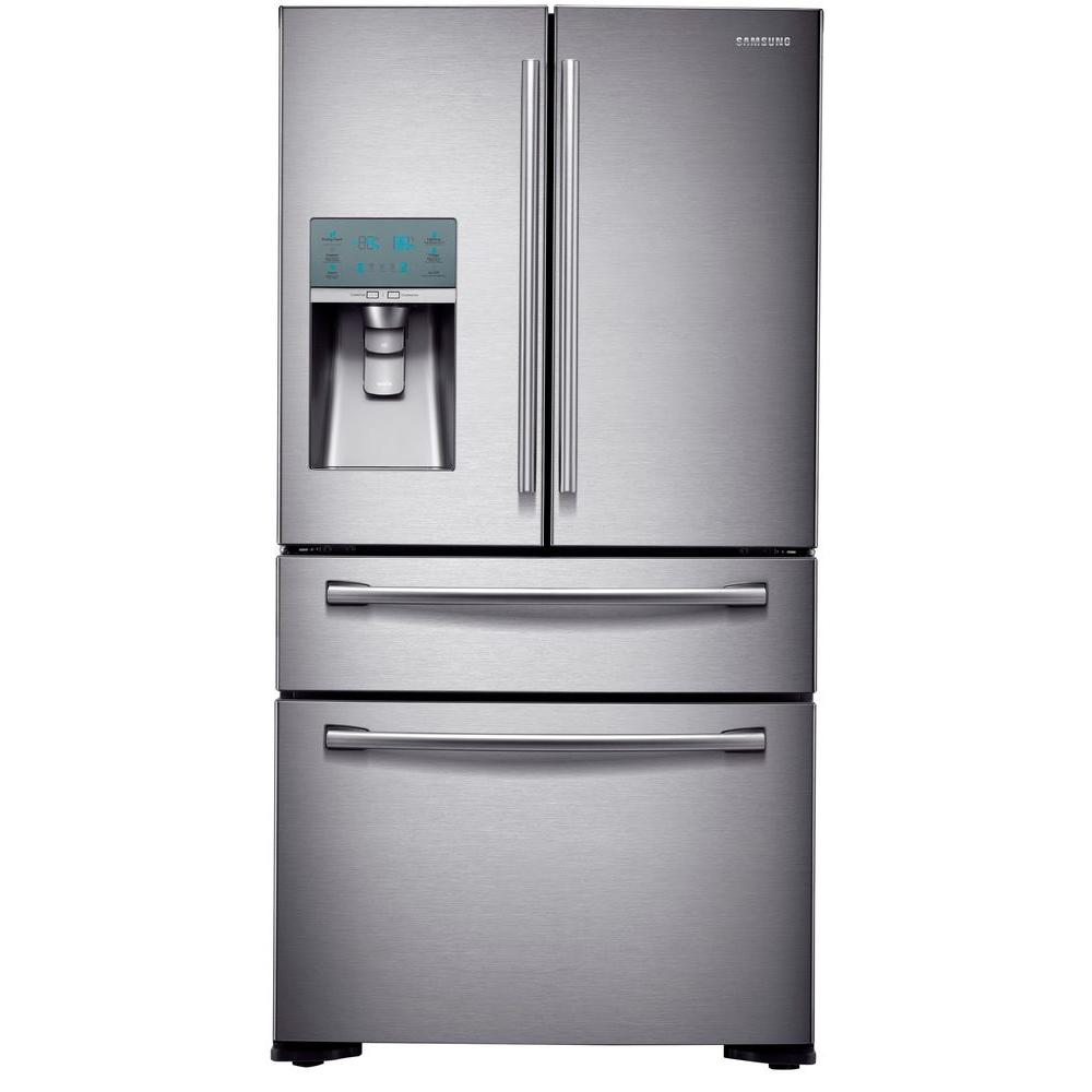22.6 cu. ft. 4-Door French Door Refrigerator in Stainless Steel, Counter