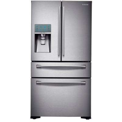 22.6 cu. ft. 4-Door French Door Refrigerator in Stainless Steel, Counter Depth