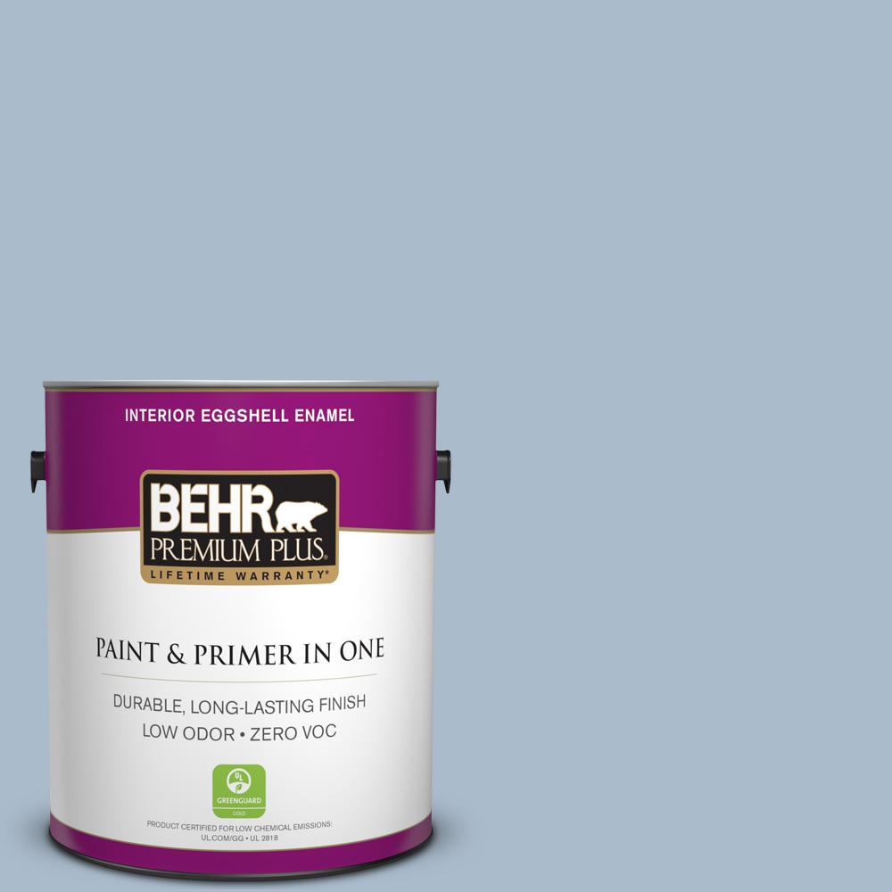 1 gal. #PPU15-16 Simply Blue Zero VOC Eggshell Enamel Interior Paint