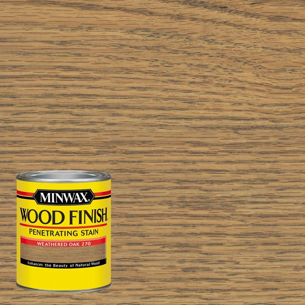 Minwax 1 qt. Wood Finish Weathered Oak Oil Based Interior Stain