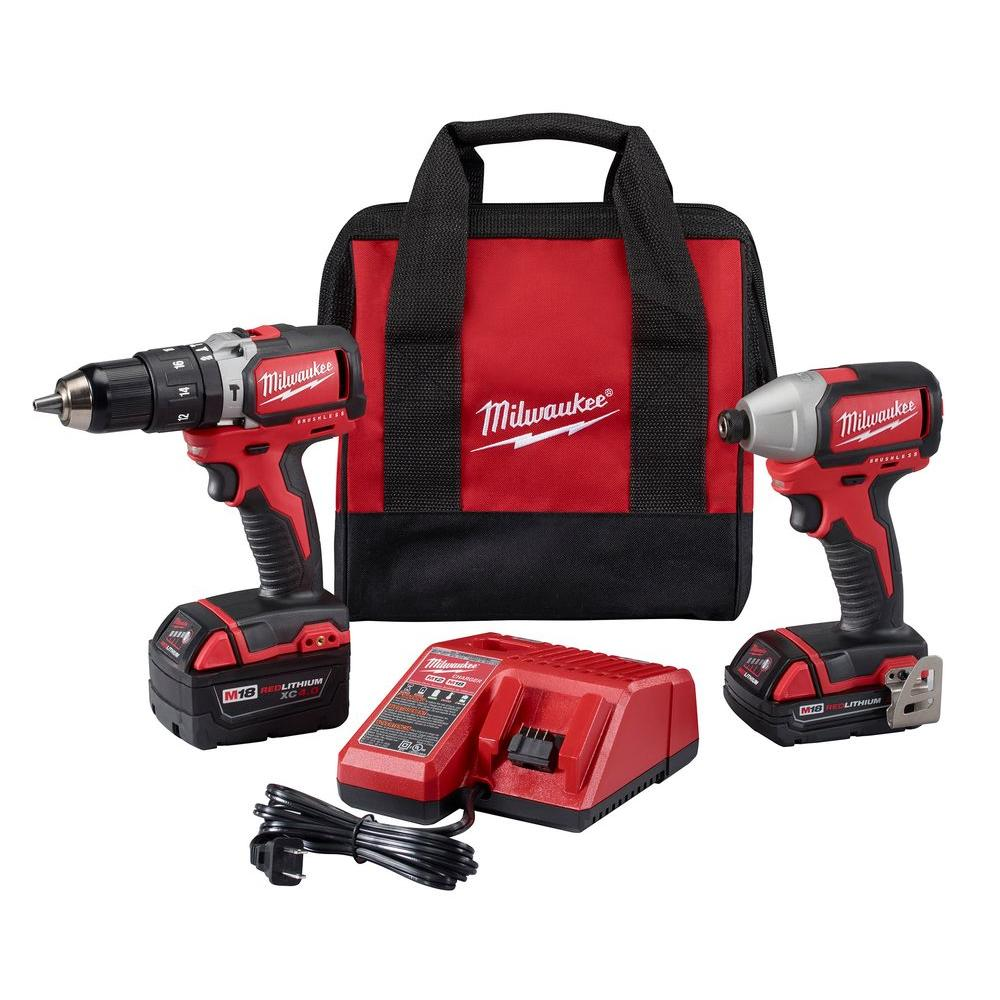M18 18-Volt Lithium-Ion Brushless Cordless Hammer Drill/Impact Combo Kit