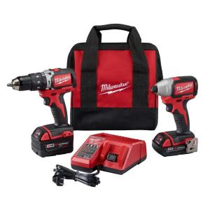 Milwaukee M18 18-Volt Lithium-Ion Brushless Cordless Hammer Drill/Impact Combo Kit... by Milwaukee