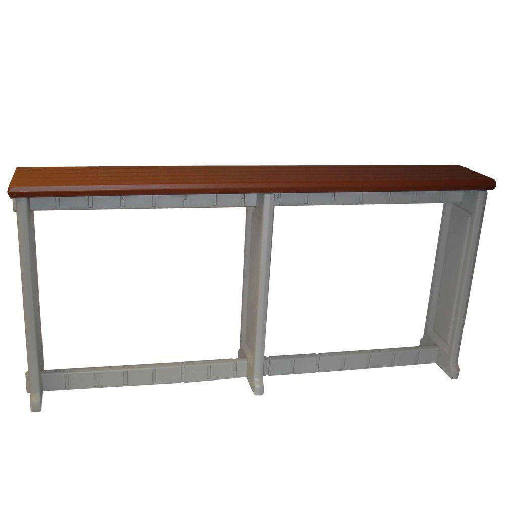 Leisure Accents Redwood 74 in. Resin Patio Bar
