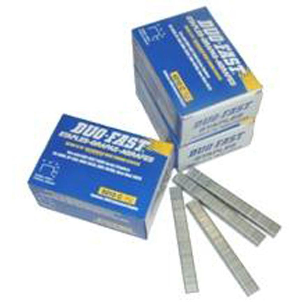 5018C 5000 Series 20-Gauge, 1/2 in. Crown, 9/16 in. Leg Fine Galvanized Steel Staple (5,000-Pack)
