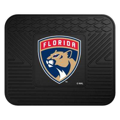 NHL Florida Panthers Black Heavy Duty 14 in. x 17 in. Vinyl Utility Mat