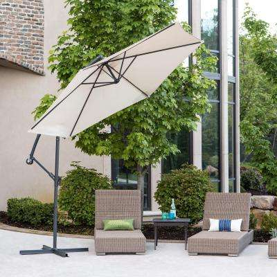 Cantaliever 9 ft. Patio Umbrella in Tan