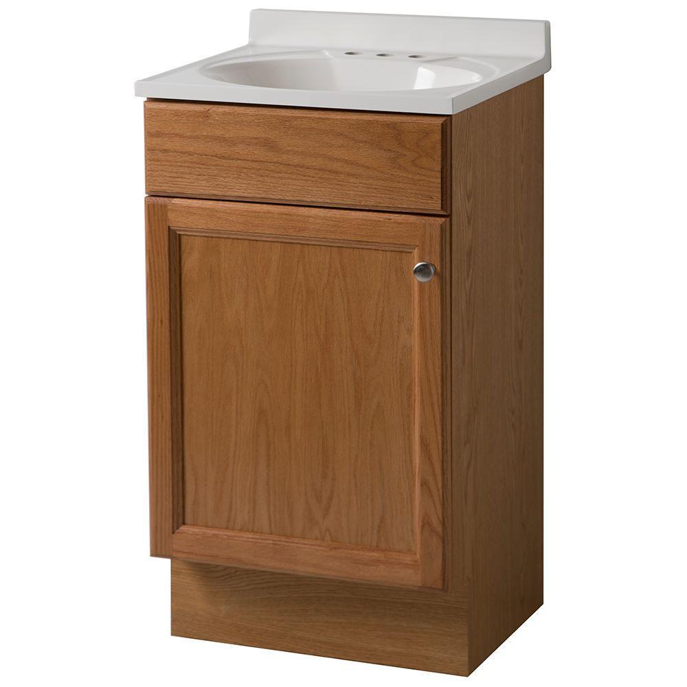 Bath Vanity In Oak