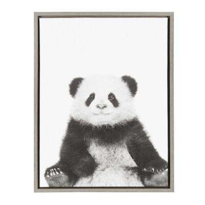 "24 in. x 18 in. ""Panda"" by Tai Prints Framed Canvas Wall Art"