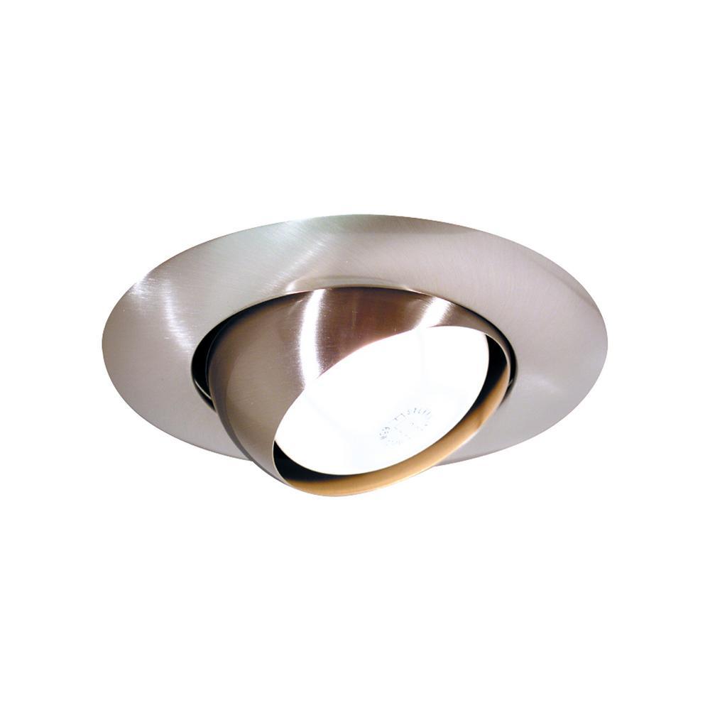 6 in. Brushed Nickel Eyeball Recessed Trim