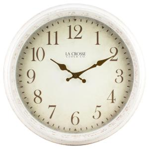 La Crosse Technology 16 inch H Round Antique Patina Analog Wall Clock by La Crosse Technology