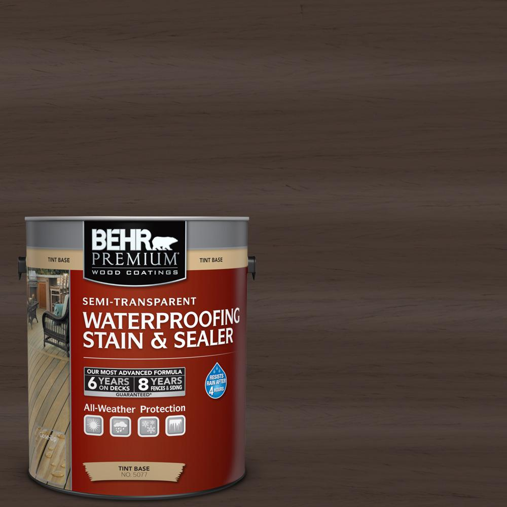 BEHR Premium 1-gal. #ST-103 Coffee Semi-Transparent Waterproofing Stain and Sealer
