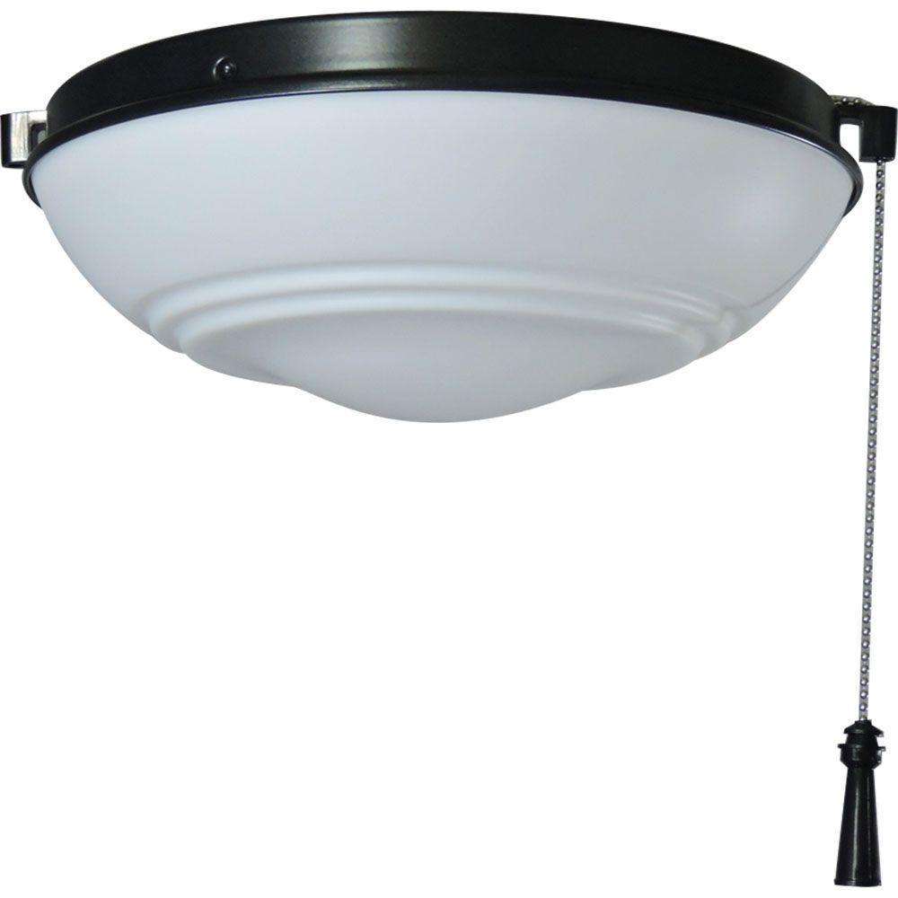 Hampton Bay Universal Ceiling Fan LED Light Kit with Shatter Resistant Bowl - Hampton Bay Universal Ceiling Fan LED Light Kit With Shatter