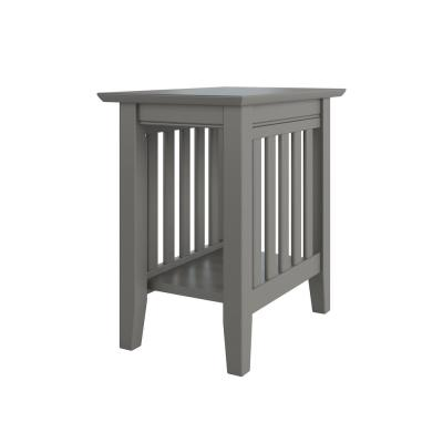 Mission Grey Chair Side Table