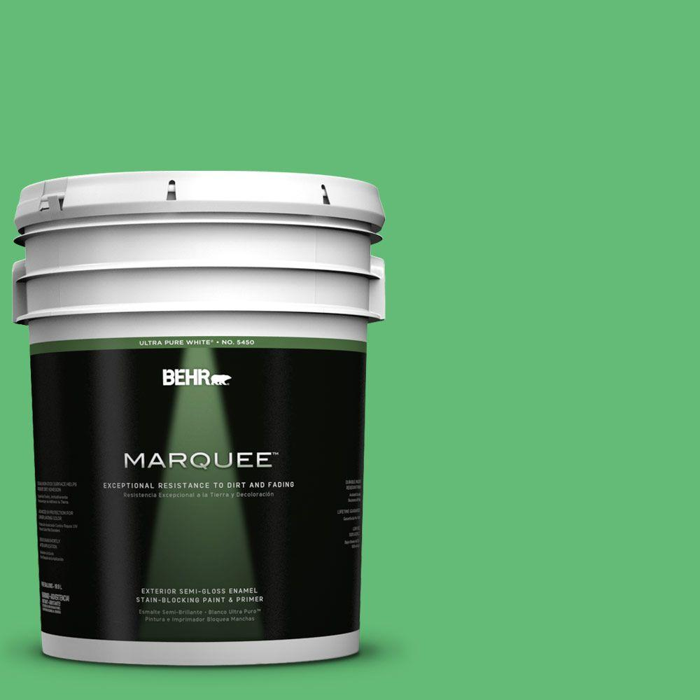 BEHR MARQUEE 5-gal. #450B-5 Lady Luck Semi-Gloss Enamel Exterior Paint