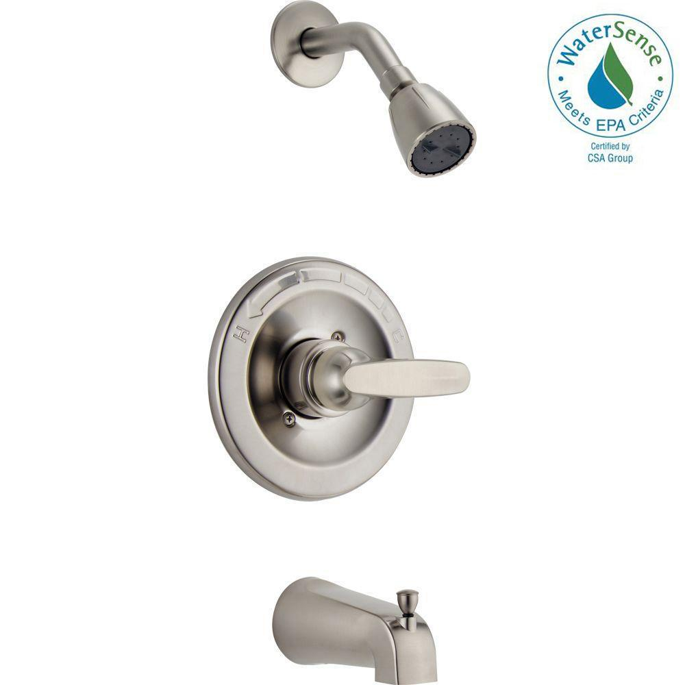Delta Foundations 1-Handle Tub and Shower Faucet Trim Kit in Stainless (Valve Not Included)