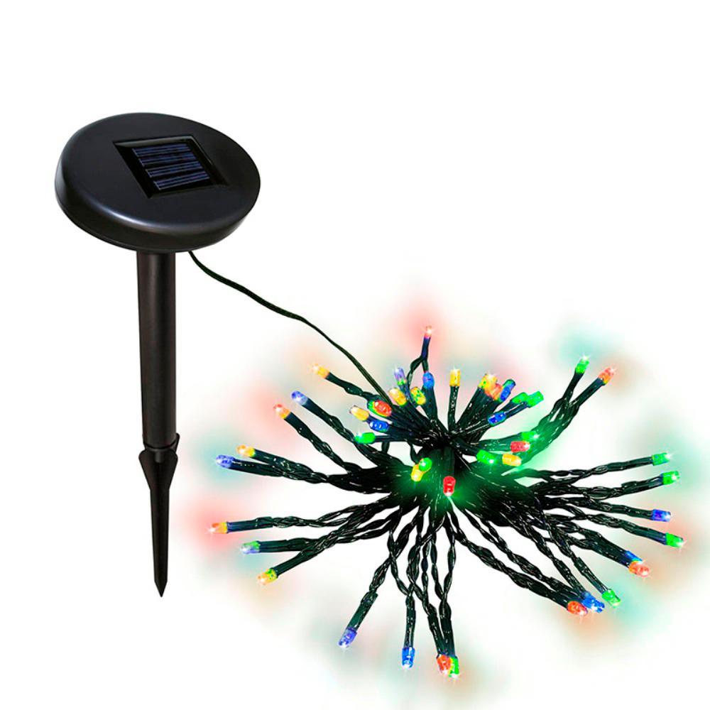 60 led multi color solar powered string lights