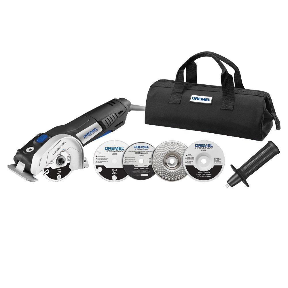 Dremel Ultra-Saw 7.5 Amp Variable Speed Corded Tool Kit with 4 Accessories and Storage Bag