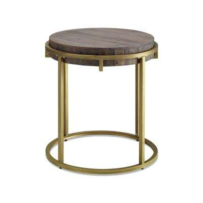 Samuel Gold Base Round End Table