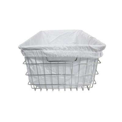 EcoStorage 13 in. x 9.25 in. Chrome Wire Basket with Cover (2-Pack)