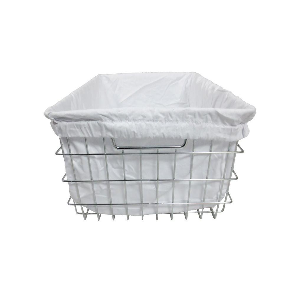 EcoStorage 13 in. W x 9.25 in. H Chrome Wire Basket