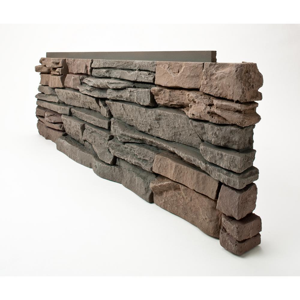 Genstone Stacked Stone Keystone 12 In X 38 In Faux Stone