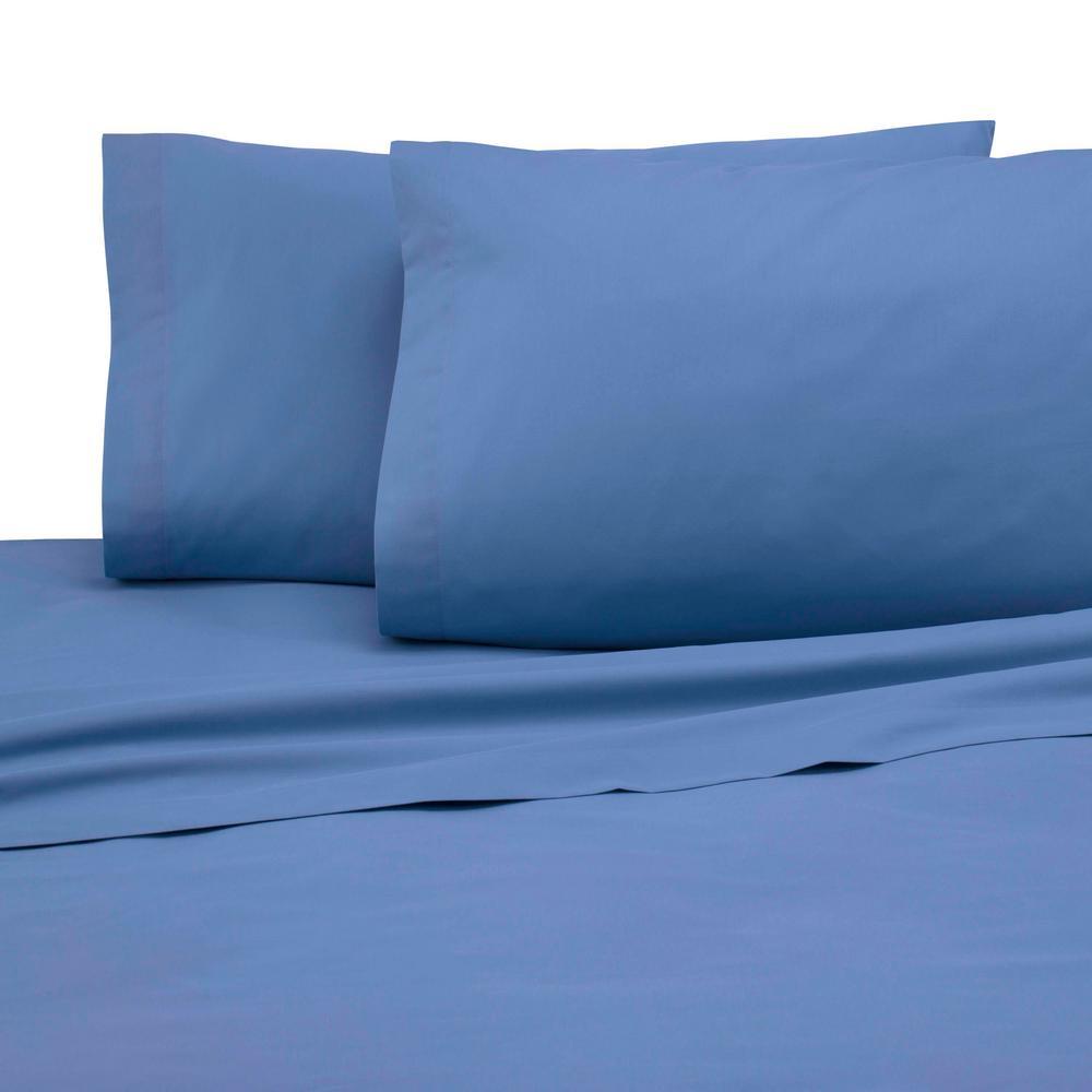 225 Thread Count Ceil Blue Cotton Twin XL Sheet Set