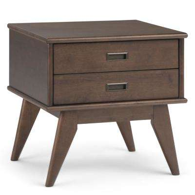 Draper Mid-Century Walnut Brown Side Table