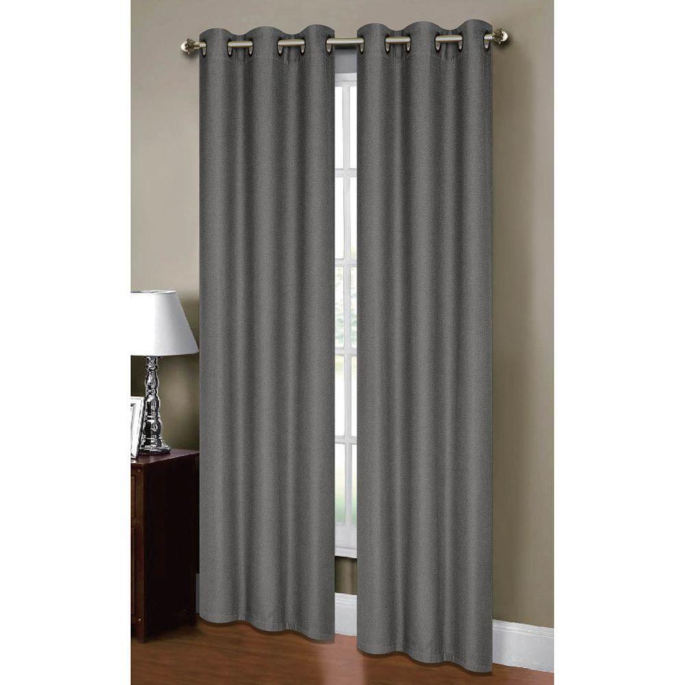 Attractive Semi Opaque Henley Woven Grommet Curtain Panel