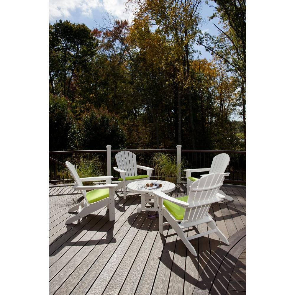 White Adirondack Conversation Set