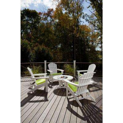 Yacht Club Shellback Classic White 5-Piece Adirondack Patio Conversation Set