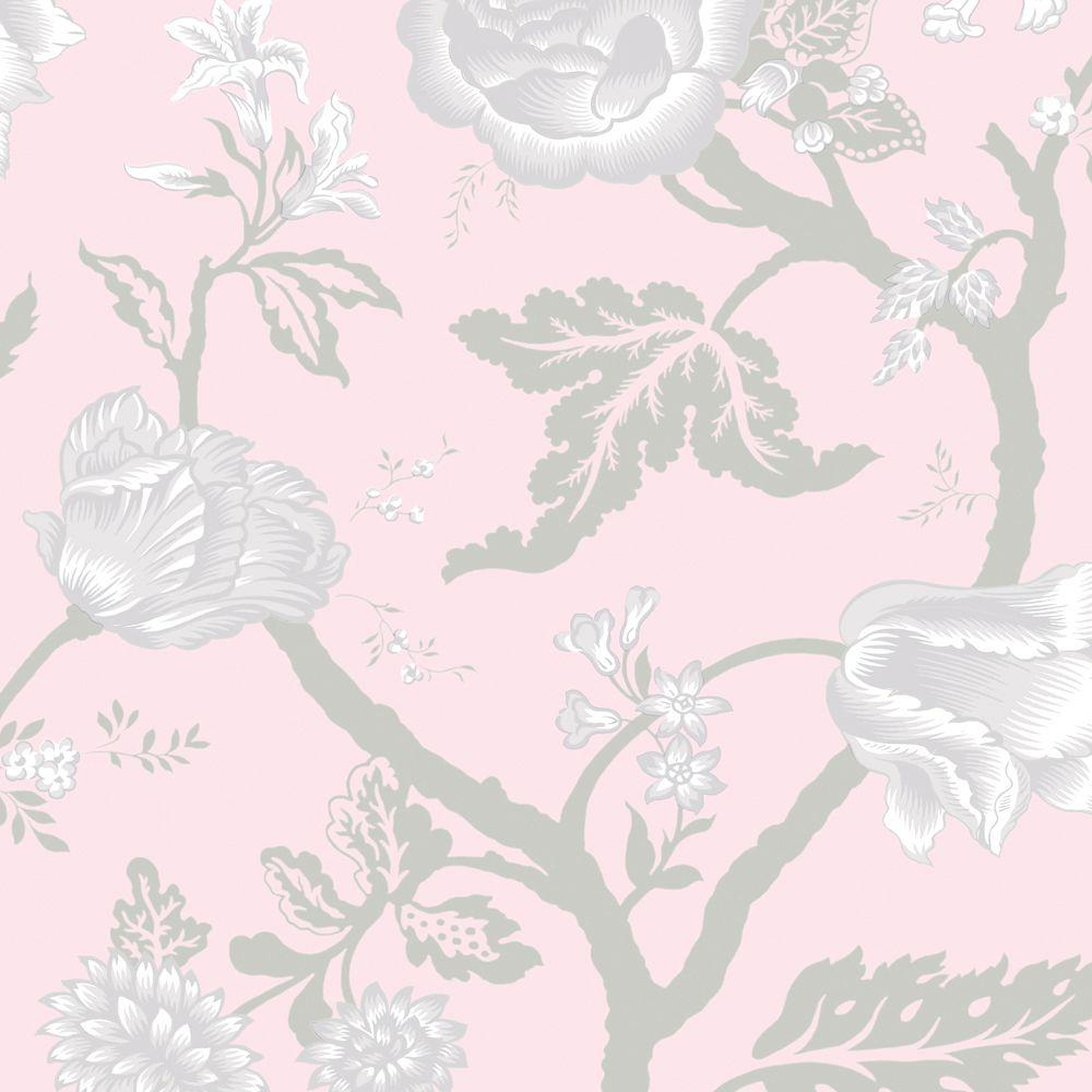 The Wallpaper Company 8 in. x 10 in. Kendal Pink Wallpaper Sample