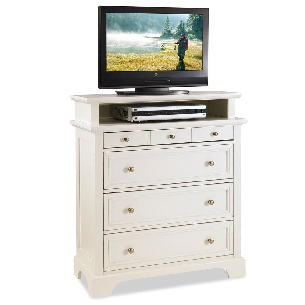 Home Styles Naples 4-Drawer White Chest